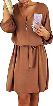 Damen Spitze Häkeln 3//4 Arm Beiläufig Langes Kleid Partykleid Ballkleider Kleid