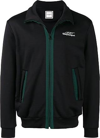 Wooyoungmi contrast trim track jacket - Preto