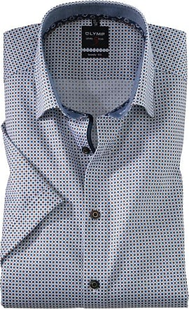 Olymp Level Five Halbarmhemd, body fit, Under-Button-down, Nougat, 39
