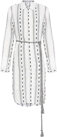 Shoulder Vestido Chemise Fio Tinto Shoulder - Off White