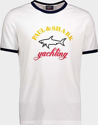 Paul & Shark T-shirt con logo stampato tre colori in cotone organico