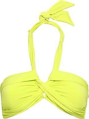 df2a5b15c1b45 Seafolly Seafolly Woman Twist-front Neon Halterneck Bikin Top Chartreuse  Size 14