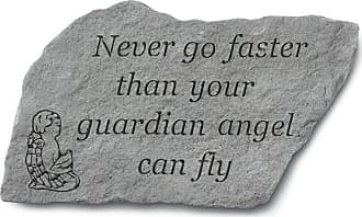 Kay Berry Never Go Faster Than Your Guardian Angel Garden Stone - 91920