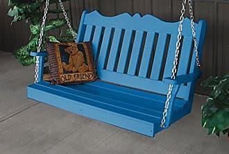 A & L Furniture A & L Furniture Poly Royal English Porch Swing, 4, Blue