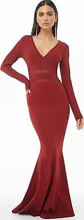 Forever 21 Forever 21 Mesh Mermaid Dress Burgundy