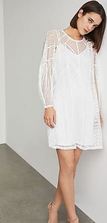 BCBGeneration Striped Mesh Shift Dress