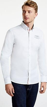 Aston Martin Mens Tape Detail Cotton Shirt   Medium   White