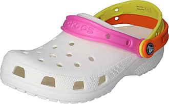 Crocs Shoes - Classic Triple Strap Clog White Citrus, Size:8/9 UK