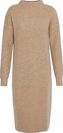 N.Peal N.peal Woman Ribbed Cashmere Dress Camel Size XL