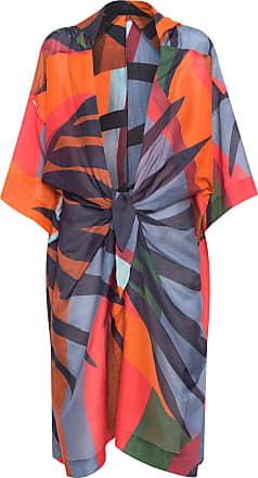 Osklen Kimono Fluid Tropicolor - Laranja