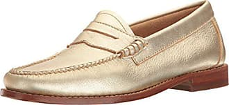 G.H. Bass & Co. Womens Whitney Penny Loafer, Gold, 7.5 M US