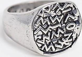 Icon Brand Anello con sigillo e simbolo argento
