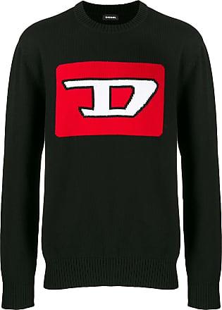Diesel logo intarsia jumper - Black