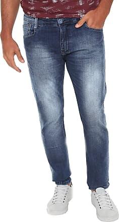 Gangster Calça Jeans Gangster Slim Estonada Azul