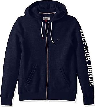 Tommy Hilfiger Mens Essential Graphic Hoodie Full Zip Up Sweatshirt