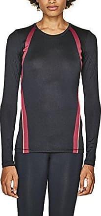 detailed look 9bbea 4ce55 Esprit Sports 107ei1k007-E-dry Longsleeve, Camicia Sportiva Donna, Nero  (Black