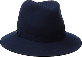 Karen Kane Womens Raw Edge Trilby Hat, Navy, M/L