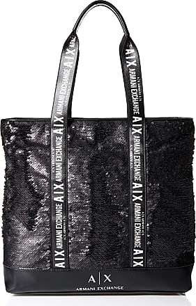 A X Armani Exchange A X Armani Exchange Womens Sequins Tote Bag Black, One size