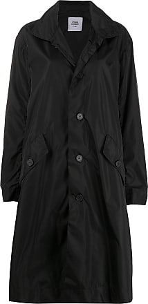 Opening Ceremony box logo buttoned trench coat - Black
