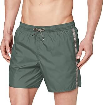 Emporio Armani Mens Boxer Beachwear Logo Tape Swim Trunks, Green (Bamboo 05481), X-Large (Size: 54)