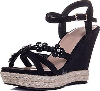 Spylovebuy Diamante Keilabsatz Sandalen Schuhe Pumps Synthetik Wildleder Gr  40 58b07472b7