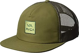 Rvca Mens Va All The Way Mesh Back Trucker Hat, Olive, One Size