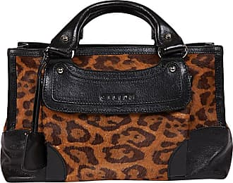 4719b96eb455 Celine Boogie Model Bag In Leopard Printed Foal And Black Leather