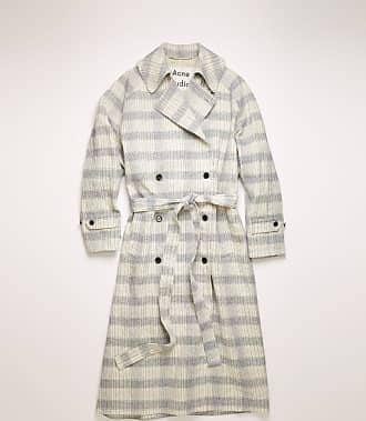 Acne Studios FN-WN-OUTW000268 Beige/blue Checked trench coat