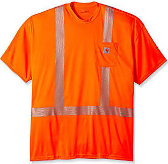 65c52f70 Carhartt Work in Progress Mens Big-Tall Force High Visibility Short Sleeve Class  2 T