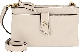 Michael Kors Cross Body Bags - Charm MD Tab Doublezip Phone Crossbody Bag Light Sand - beige - Cross Body Bags for ladies