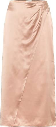 Vince High-rise silk-satin midi dress