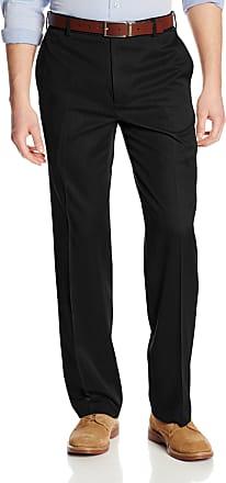 Van Heusen mensStraight Fit Flat Front Traveler Ultimate Dress Pant Dress Pants - Black - 33W x 30L