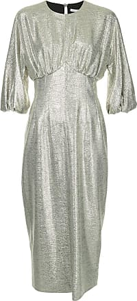 1a536b1c6df Emilia Wickstead metallic puff sleeve dress - Silver