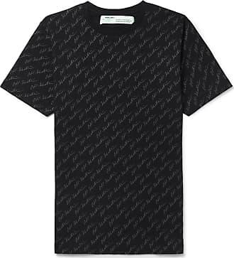 Off-white Logo-print Cotton-jersey T-shirt - Black