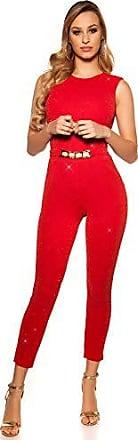 Koucla Damen Bandeau Overall Jumpsuit  Playsuit mit Pailletten