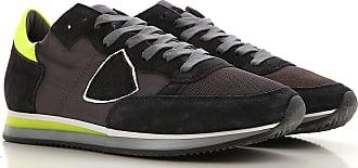 Philippe Model Sneaker für Herren, Tennisschuh, Turnschuh Günstig im Outlet Sale, Tropez, Anthrazit, Leder, 2019, 40 42 43 44 45 46