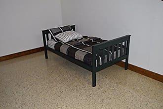 A & L Furniture A & L Furniture 3100DGP Slat Mission Bed, Twin, Dark Green