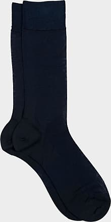 ZD Zero Defects Zero Defects blue mercerized cotton socks