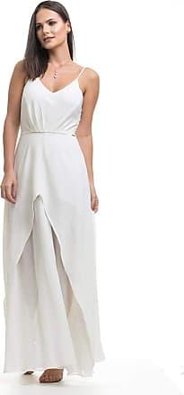 Clara Arruda Vestido Longo Clara Arruda Busto Pregas 50420 - G - Off White