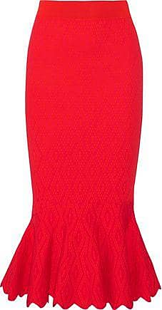 Jonathan Simkhai Jonathan Simkhai Woman Textured Stretch-knit Midi Skirt Red Size XS