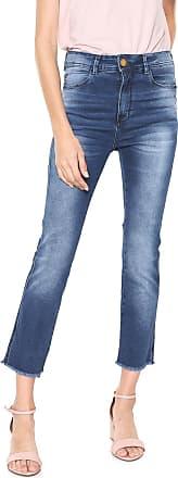 Zune Jeans Calça Jeans Zune Skinny Cropped Desfiada Azul