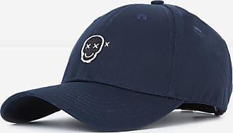 The Kooples The Kooples - Casquette coton bleu badge Happy Skull - HOMME