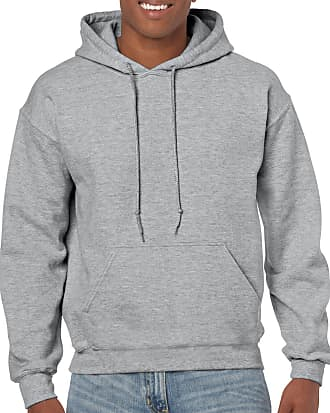 Gildan Mens Hooded Sweatshirt Shirt, Sport Grey, Medium