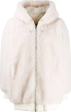 Yves Salomon shearling jacket - White