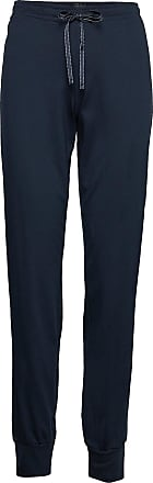 Schiesser LONG BOXER - Pyjamasbukse - blue