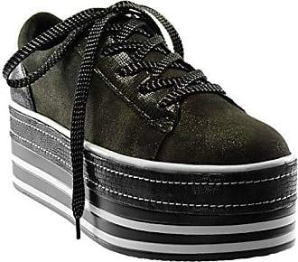 Angkorly Damen Schuhe Sneaker Keilabsatz - Plateauschuhe - Sporty chic -  bi-Material - Krokodil 0401c37202