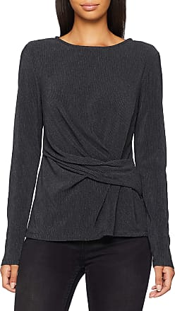 Pieces Womens Pcfancy Ls Round Neck Top Long Sleeve, Grey (Dark Grey Melange Dark Grey Melange), 8 (Size: X-Small)