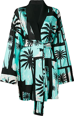 FAUSTO PUGLISI palm tree kimono coat - Azul