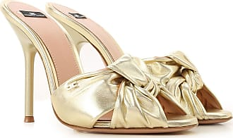 Elisabetta Franchi Sandals for Women On Sale, Gold, Leather, 2017, 6