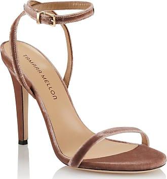 Tamara Mellon Reveal Blush Velvet Sandals, Size - 35.5
